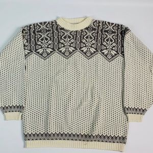 Vintage 90s Fair Isle Nordic Cotton Sweater